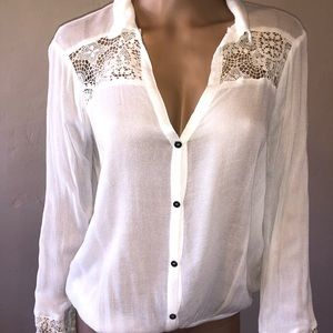 Tops - Tibi Crochet Blouse XS/S
